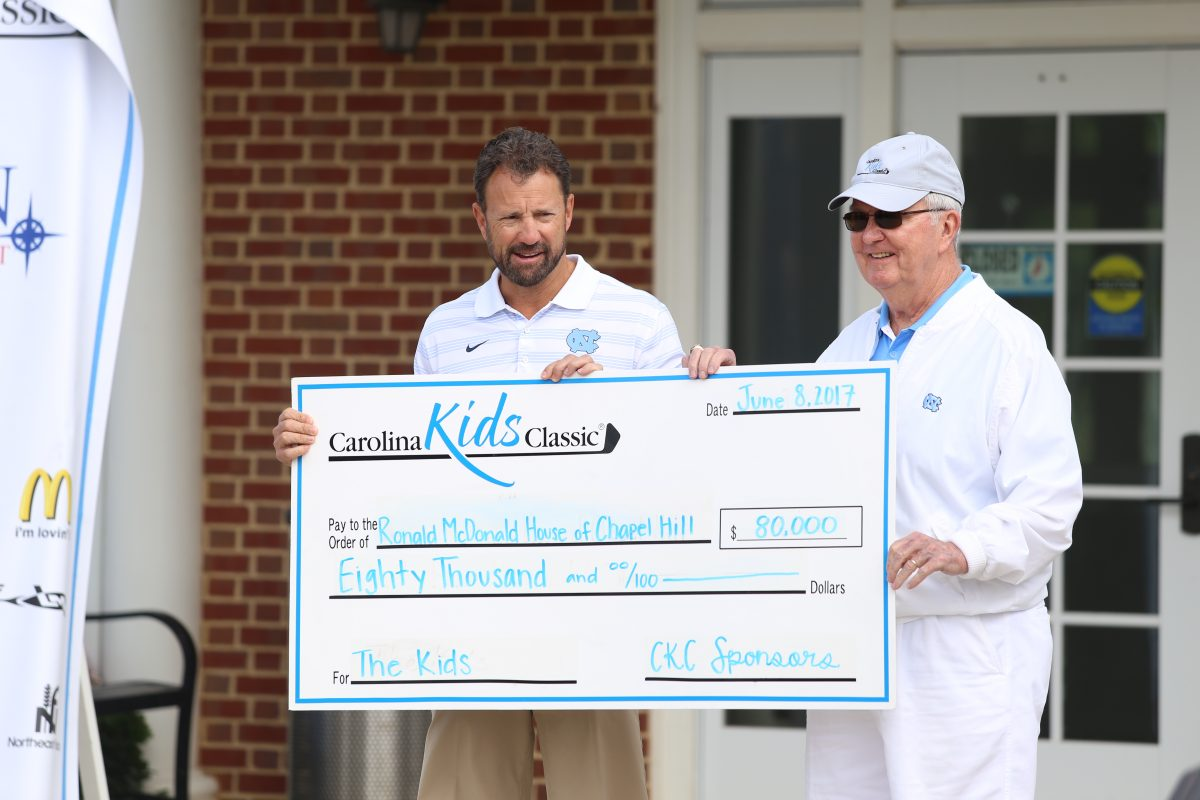 Coach Fedora and Woody Durham present ckc check