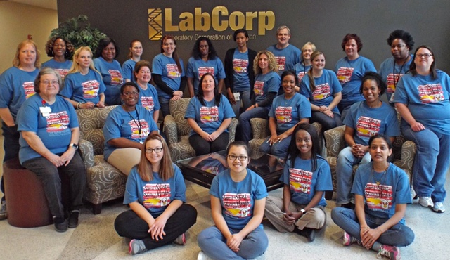 LabCorp Sports A Shirt, Shares a Night
